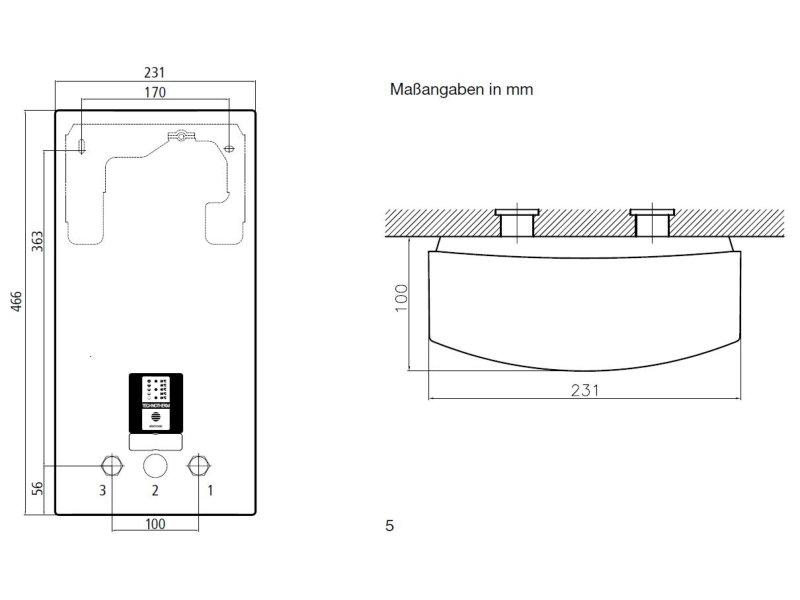 technotherm elektronischer durchlauferhitzer cde 18 27 kw. Black Bedroom Furniture Sets. Home Design Ideas