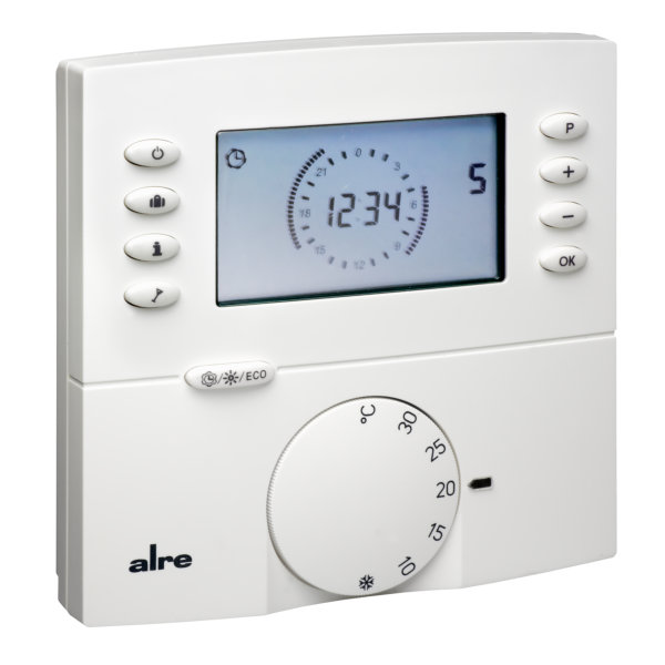 alre raumthermostat digital fu bodenheizung aufputz programmierbar ebay. Black Bedroom Furniture Sets. Home Design Ideas