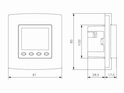 raumtemperaturregler raumthermostat digital up passend f r. Black Bedroom Furniture Sets. Home Design Ideas