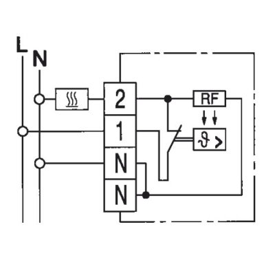 Raumthermostat Aufputz 230V 5...30°C 10A 1 Öffner EBERLE RTR E-6121 ...