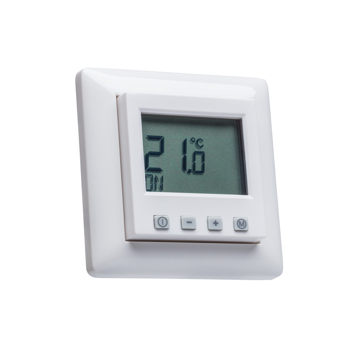 digital raumthermostat mit gira standard 55 glanz rahmen. Black Bedroom Furniture Sets. Home Design Ideas