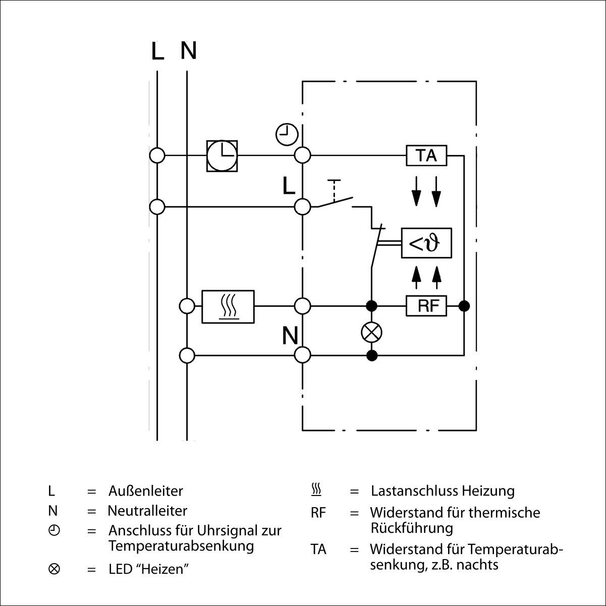 raumthermostat f r fu bodenheizung mit merten 1 m rahmen. Black Bedroom Furniture Sets. Home Design Ideas